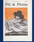 'Pèl & Ploma' (issue nr. 11, august 1899), Catalan art and literature magazine. Cover by Ramon Casas