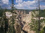 geography / travel, USA, Wyoming, landscapes, Yellowstone National Park, Grand Canyon of the Yellowstone River, view from North Rim, North America, ch...