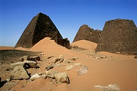 geography / travel, Sudan, Shandi, buildings, pyramids of Meroe, Africa, Eastern Sahara, desert, sand, landscape, building, temple, culture, architect...