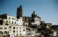 geography / travel, Mexico, Taxco, city views / cityscapes, cathedral Santa Prisca, 1961, historic, historical, Central America, 20th century, church,...