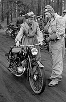 geography/travel, Germany, German Democratic Republic, organisations, Society for Sports and Technics, motorsports, instruction of a female motorcycli...