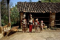 geography / travel, Guatemala, tradition / folklore, dance of Spanish Conquista, Chichicastenango, 1964, historic, historical, Central America, 20th c...