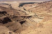 Aerial view of Chebika Canyon, Tunisia