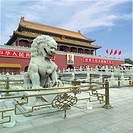 Beijing, People´s Republic of China. The Gate of Heavenly Peace at Tiananmen Square.