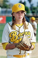 movie, Bad News Bears, USA 2005, director: Richard Linklater, scene with: Sammi Kane Kraft, comedy, half length, baseball, sport, girl, child,