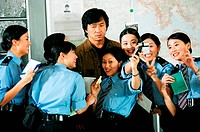 movie, New Police Story San ging chaat goo si, HKG / CHN 2004, director: Benny Chan, scene with: Jackie Chan, action, policeman, police, half length,