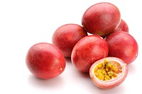 Six whole and one half passion fruits