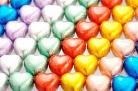 Colorful heart_shaped candies
