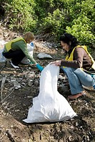 Women helping with community clean_up, Vancouver, Canada