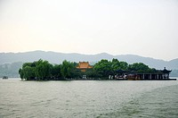 The mid_lake pavilion in West Lake, Hangzhou, Zhejiang Province