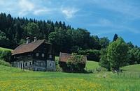 Bauernhaus bei Admont, Österreich, Steiermark, Gesäuse Nationalpark _ Farmhouse near Admont, Austria, Styria, Gesäuse National Park