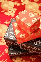 Wrapped gifts with lucky patterns