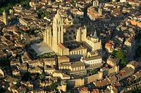 Aerial view on Segovia, Castilla-Leon, Spain