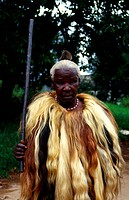 Man, traditional dress, Pigg's Peak, Swaziland