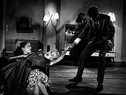 Film, Die Frühreifen, BRD 1957, Regie: Josef von Baky, Szene mit: Sabine Sinjen, Heidi Brühl und Peter Kraus, Drama, nach Roman Wer glaubt schon an de...
