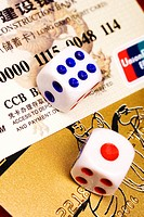 Two dices on Chinese credit cards