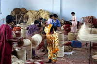 COIR YARN PROCESSING IN FACTORY ALAPUZHA DISTRICT