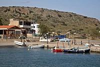 HV766218 Boote im Hafen von Milatos auf Kreta