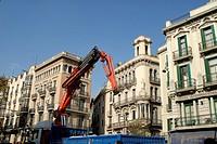 Barcelona, La Rambla, Bauarbeiten, construction works