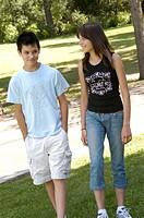 Teenagers walking together