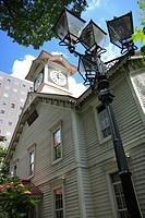Sapporo clock tower at Hokkaido in Japan