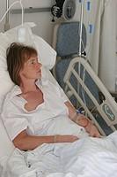 Woman at hospital.