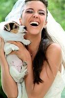 Bride dog.