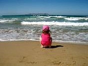 Little girl beach