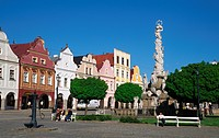 Marktplatz in Telsch. Marketsquare at Telc, Czech Republic