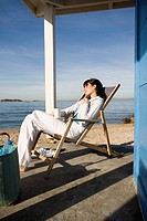 Woman beachchair