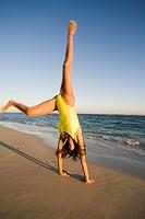Woman gymnastics.