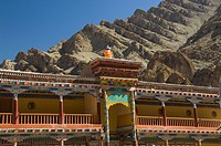 Architectural details of a monastery, Hemis Monastery, Hemis, Ladakh, Jammu and Kashmir, India