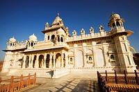 Facade of a temple, Jaswant Thada, Jodhpur, Rajasthan, India