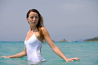 Woman sea bath