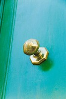 Close_up of a door knob, Valletta, Malta