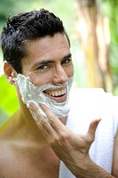Man nature shaving