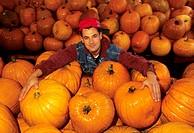 pumpkins, angion market, montreal, quebec, canada