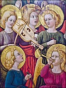 santa maria delle grazie church, museum, coro di angeli musicanti, san giovanni valdarno, tuscany, italy