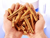 Handful Of Cinnamon Sticks