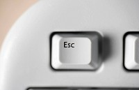 An escape key on a computer keyboard