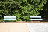 Park benches side by side
