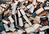 Heap of chopped wood
