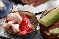 Close_up of sushi ingredients