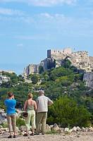Les Baux-de-Provence castle. Bouches-du-Rhône, Provence-Alpes-Côte d´Azur, France