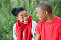 A young couple enjoying a moment, Johannesburg, Gauteng Province, South Africa