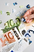 European currency jigsaw puzzel