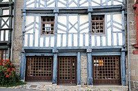 France, Brittany, Tr&#233;guier 22  Traditional house in old town