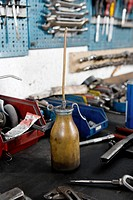 Work tools and equipment in a workshop
