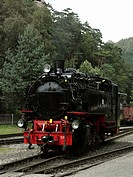 A steam train locomotive