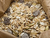 Muesli in a paper bag